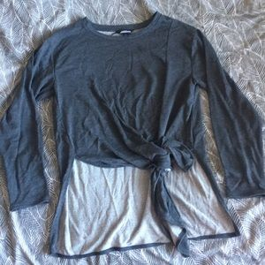 Grey long sleeve light sweater